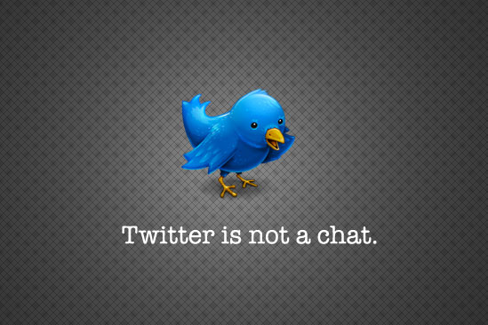 Twitter in not a chat Wallpaper