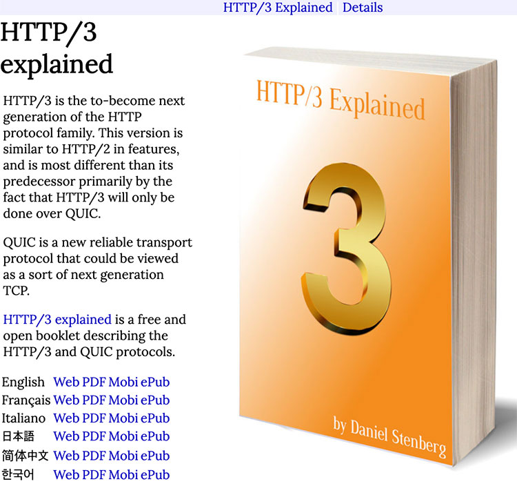 HTTP/3 explained 웹사이트